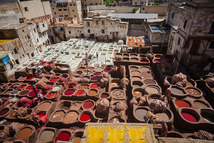 Tanneries of Fes Morocco