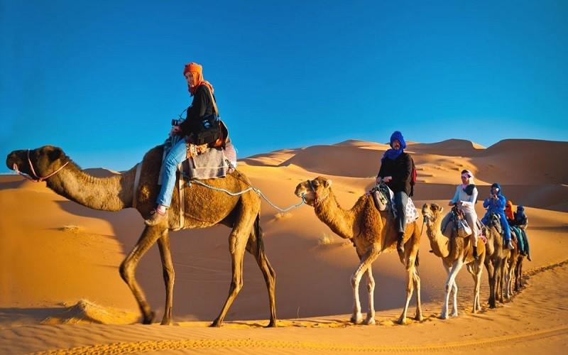 ride camel in Merzouga