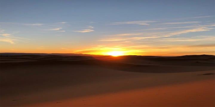 sunset merzouga